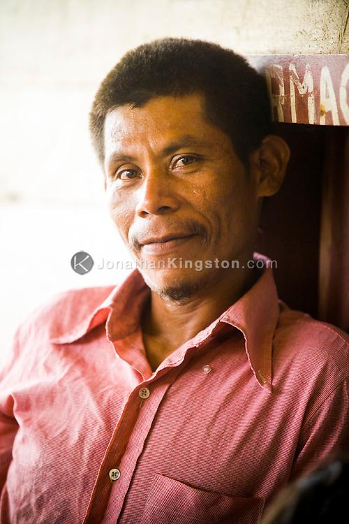 Portrait of a Miskito man in Krin Krin, Nicaragua.