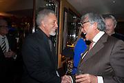 SIR TOM JONES; SIR DAVID TANG, Chinese New Year dinner given by Sir David Tang. China Tang. Park Lane. London. 4 February 2013.