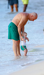 Coleen Rooney is spotted with her kids on the beach in Barbados while on holiday. 24 Oct 2018 Pictured: coleen Rooney. Photo credit: QueensoftheNorth/MEGA TheMegaAgency.com +1 888 505 6342