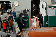 Ina SWIATEK (POL) won the match, celebration over Philippe Chatrier stadium during the Roland Garros 2020, Grand Slam tennis tournament, women single final, on October 10, 2020 at Roland Garros stadium in Paris, France - Photo Stephane Allaman / ProSportsImages / DPPI