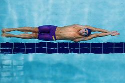 August 3, 2018 - Glasgow, UNITED KINGDOM - BASLAKOV ISKENDER of Turkey competes in the qualifications of men's 50-meter backstroke swimming during the European Championships in Glasgow.  (Credit Image: © Joel Marklund/Bildbyran via ZUMA Press)