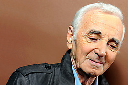 Charles Aznavour poses in Paris, France, in October 2011. Photo by Vim/ABACAPRESS.COM