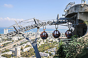 Israel, Haifa, the Stella Maris cable car upper station