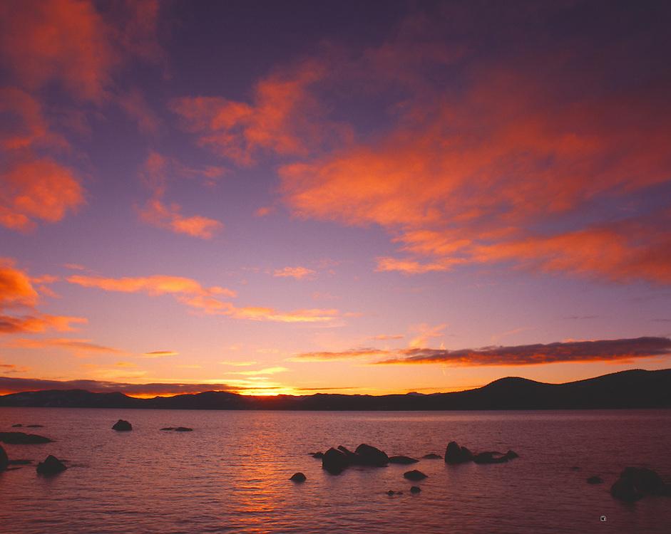 Lake Tahoe Landscape Sunset Lake Tahoe