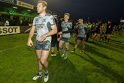 December 8, 2018 - Galway, Ireland - Kyle Godwin of Connacht celebrate during the European Rugby Challenge Cup match between Connacht Rugby and Perpignan at the Sportsground in Galway, Ireland on December 8, 2018  (Credit Image: © Andrew Surma/NurPhoto via ZUMA Press)