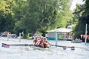 Henley-on-Thames. United Kingdom.  2017 Henley Royal Regatta, Henley Reach, River Thames. <br /> Women's Four. Hollandia Roeiclub. Bow Elsbeth Beeres 2. Karolien Florijn, 3. Ymke Clevering and  str.Veronique Meester<br /> <br /> 15:23:29  Sunday  02/07/2017<br /> <br /> [Mandatory Credit. Intersport Images}.