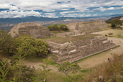 North America, Mexico, Oaxaca Province, Oaxaca, ruined Zapotec city of Monte Alban, which reigned between 500 BC and 750 AD.  UNESCO World Heritage Site.
