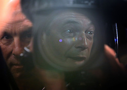 """© Licenced to London News Pictures. 26/05/2014. London. UK.  <br /> Nigel Farage, leader of the UK Independence Party (UKIP), is pictured reflected in a television camera during a press conference in London, May 26th 2014. The UKIP leader said his """"dream has become a reality"""" and UKIP is now the """"third force"""" in British politics after it topped the European polls.<br /> Photo Credit: Susannah Ireland"""