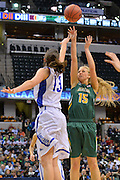 April 4, 2016; Indianapolis, Ind.; Alysha Devine puts up a shot in the NCAA Division II Women's Basketball National Championship game at Bankers Life Fieldhouse between UAA and Lubbock Christian. The Seawolves lost to the Lady Chaps 78-73.