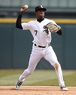 CHICAGO - APRIL 05:  Tim Anderson #7 of the Chicago White Sox fields against the Seattle Mariners on April 5, 2019 at Guaranteed Rate Field in Chicago, Illinois.  (Photo by Ron Vesely)  Subject:  Tim Anderson