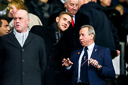 England Cricketer and Nottingham Forest fan Stuart Broad with Former Derby County and Nottingham Forest player John McGovern in attendance at Pride Park Stadium the East Midlands Derby against Derby County - Mandatory by-line: Robbie Stephenson/JMP - 17/12/2018 - FOOTBALL - Pride Park Stadium - Derby, England - Derby County v Nottingham Forest - Sky Bet Championship