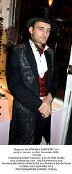 Magician the HON.MAX SOMERSET at a party in London on 26th November 2003.<br /> POY 26