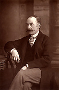 Thomas Hardy (1840-1928) English novelist and poet, who was born and lived most of his life in Dorset.  From 'The Cabinet Portrait Gallery' (London, 1890-1894).  Woodbury type after photograph by W & D Downey.
