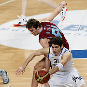 Anadolu Efes's Osman Gokhan Sirin (F) during their Turkish Basketball League match Anadolu Efes between Trabzonspor at Sinan Erdem Arena in Istanbul, Turkey, Saturday, December 10, 2011. Photo by TURKPIX