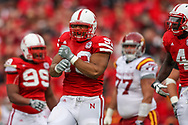 Ndamukong Suh celebrates during a 9-7 loss to Iowa State at Memorial Stadium on Oct. 24, 2009. © Aaron Babcock