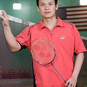 USA Olympic badminton coach Tony Gunawan, a past Olympic gold medalist, trains at the Orange County Badminton Club in Orange, California.