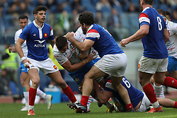 March 16, 2019 - Rome, RM, Italy - Jake Polledri of Italy during the Six Nations International Rugby Union match between Italy and France at Stadio Olimpico on March 16, 2019 in Rome, Italy. (Credit Image: © Danilo Di Giovanni/NurPhoto via ZUMA Press)