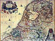 Map of the Dutch Republic,  Amsterdam, 1658. Netherlands