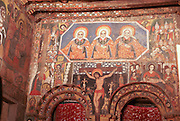 Africa, Ethiopia, Gondar Painted ceiling in the Church of Debre Birhan Selassie religious art