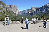 This visitor viewpoint of Yosemite Valley, Yosemite National Park, California, USA, is perenially popular with photographers. 201304181592<br /> <br /> Copyright Image from Victor Patterson, 54 Dorchester Park, Belfast, UK, BT9 6RJ<br /> <br /> Tel: +44 28 9066 1296<br /> Mob: +44 7802 353836<br /> Voicemail +44 20 8816 7153<br /> Skype: victorpattersonbelfast<br /> Email: victorpatterson@me.com<br /> Email: victorpatterson@ireland.com (back-up)<br /> <br /> IMPORTANT: If you wish to use this image or any other of my images please go to www.victorpatterson.com and click on the Terms & Conditions. Then contact me by email or phone with the reference number(s) of the image(s) concerned.