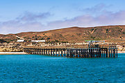 Bechers Bay and pier at Santa Rosa Island, Channel Islands National Park, California USA