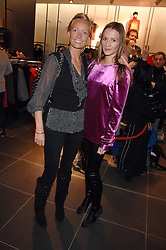 Left to right, MARTHA WARD and AMANDA CROSSLEY at a party to celebrate the opening of the new H&M store at 234 Regent Street, London on 13th February 2008.<br /><br />NON EXCLUSIVE - WORLD RIGHTS