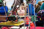 27/11/2016 REPRO FREE:  <br /> Breen O'Connor (5) from Salthillenjoy the 3-D Printing ExhibitioninNUI Galway as part of the Galway Science & Technology Festival.<br /> <br /> Photo: Andrew Downes, Xposure.