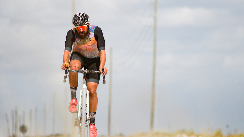 A rider on the levee