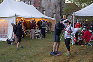 Gardiner, New York - Runners prepare to compete in the Rock the Ridge 50-mile endurance challenge race at the Mohonk Preserve on May 4, 2013. The race is part of Mohonk's 50th anniversary celebration and a fundraiser for the preserve.