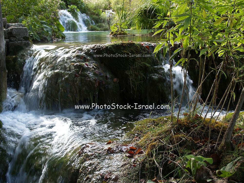Croatia, Plitvice Lakes National Park, waterfall