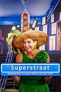 Koningin Máxima opent de tentoonstelling Superstraat in het Wereldmuseum.