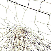 Close-up of a football goal post