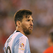 EAST RUTHERFORD, NEW JERSEY - JUNE 26:  Lionel Messi #10 of Argentina during the Argentina Vs Chile Final match of the Copa America Centenario USA 2016 Tournament at MetLife Stadium on June 26, 2016 in East Rutherford, New Jersey. (Photo by Tim Clayton/Corbis via Getty Images)