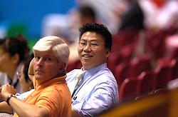 18-06-2000 JAP: OKT Volleybal 2000, Tokyo<br /> Nederland - China 3-0 / Mark Kaiway, Mizuno, Jos Smulders