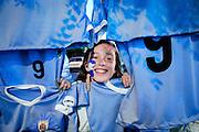 Javier Calvelo/ URUGUAY/ MONTEVIDEO/ Cancha:  Estadio Centenario/ CLASIFICATORIAS SUDAMERICANAS - MUNDIAL RUSIA 2018/ SEXTA FECHA/ Uruguay recibe a Perú en el Estadio Centenario, por la sexta etapa de las clasificatorias sudamericanas Rusia 2018.<br /> En la foto: Puesto de banderas de Uruguay previo al encuentro ante Perú en el Estadio Centenario. Foto: Javier Calvelo /adhocFOTOS<br /> 20160329 dia martes<br /> adhocFotos