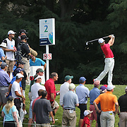 Rory McIlroy tees off on the 2nd hole during the first round of theThe Barclays Golf Tournament at The Ridgewood Country Club, Paramus, New Jersey, USA. 21st August 2014. Photo Tim Clayton