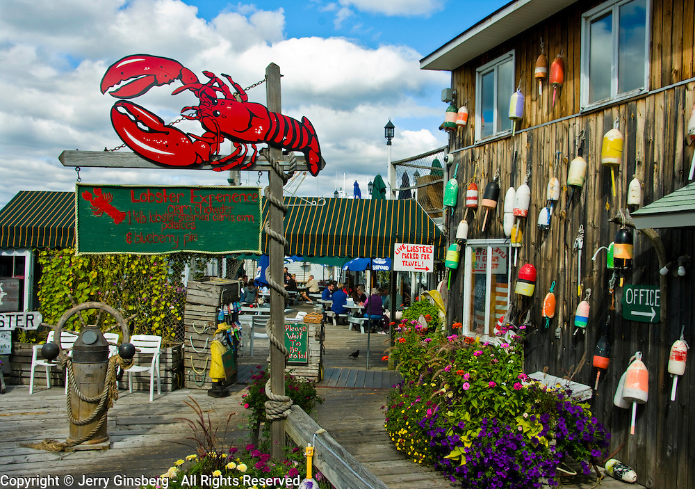 Charming and picturesque Bar Harbor on Mt. Desert Island Maine.