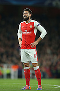 Olivier Giroud of Arsenal looking on. UEFA Champions league group A match, Arsenal v Paris Saint Germain at the Emirates Stadium in London on Wednesday 23rd November 2016.<br /> pic by John Patrick Fletcher, Andrew Orchard sports photography.