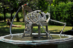 """© Licensed to London News Pictures. 05/07/2017. London, UK. """"Invisible Mother"""", 2015, by Urs Fischer.  The Frieze Sculpture festival opens to the public in Regent's Park.  Featuring outdoor works by leading artists from around the world the sculptures are on display from 5 July to 8 October 2017.  Photo credit : Stephen Chung/LNP"""