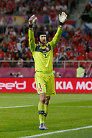 Football - European Championships 2012 - Russia vs. Czech Republic<br /> Petr Cech of Czech Republic at the Municipal Stadium, Wroclaw