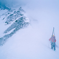Expedition skiers on the classic European Haute Route cross Switzerland's Col du Sonadon in sudden and dangerous storm.
