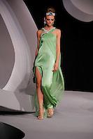 Fabiana Semprebom walks the runway  at the Christian Dior Cruise Collection 2008 Fashion Show