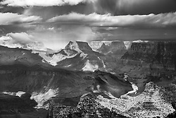 A stormy day at the Grand Canyon