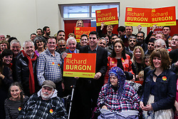 © Licensed to London News Pictures. 29/04/17. Leeds, UK. Labour MP for Leeds East launches his campaign to get re-elected with the help of veteran MP Dennis Skinner at a rally in Crossgates, Leeds.  Photo credit : Ian Hinchliffe/LNP