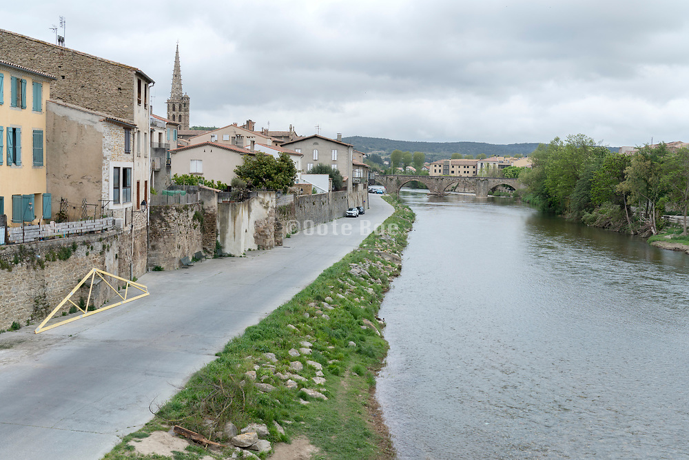 empty town street during Covid 19 crisis France Limoux April 2020
