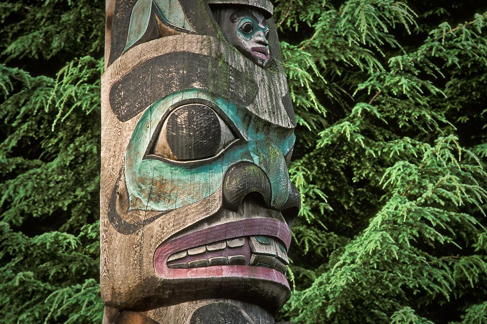 Totem at Saxman, Alaska