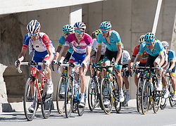 19.04.2018, Lienz, AUT, Tour of the Alps, Österreich, 4. Etappe, von Klausen nach Lienz (134,3 km), im Bild v.l. Thibaut Pinot (FRA, Groupama - FDJ), Jan Hirt (CZE, Astana Pro Team) // f.l. Thibaut Pinot of France Team Groupama - FDJ Jan Hirt of Cech Republic Astana Pro Team during 4th stage from Klausen to Lienz of 2018 Tour of the Alps in Lienz, Austria on 2018/04/19. Lienz, Austria on 2018/04/19. EXPA Pictures © 2018, PhotoCredit: EXPA/ Reinhard Eisenbauer