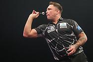 Gerwyn Price during the Grand Slam of Darts, at Aldersley Leisure Village, Wolverhampton, United Kingdom on 17 November 2019.