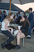 KATIE HURD; AGATHA BARTO,  CHARLES FINCH'S CHUCS SWIMATHON 2013, SERPENTINE, Hyde Park, London. 4 July 2013.