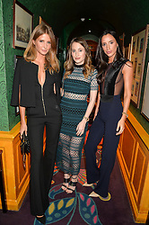 Left to right, MILLIE MACKINTOSH, ROSIE FORTESCUE and LILY FORTESCUE at the launch of GP Nutrition held at Annabel's, 44 Berkeley Square, London on 26th January 2016.